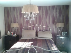 Zoffany Contract Width vinyl wallcovering bedroom1