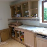 Hand Painted Oak Kitchen, Spratton, Northants