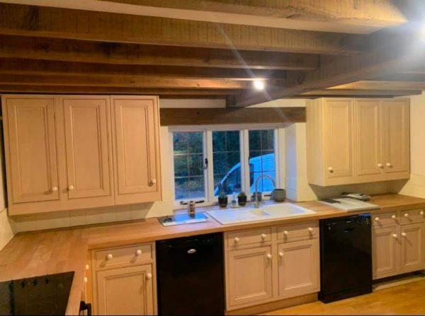 unpainted kitchen in Northants