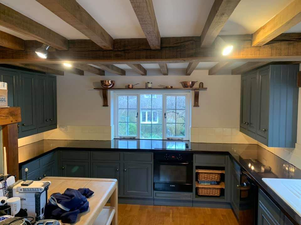 paintedcabinets kitchen in Northants